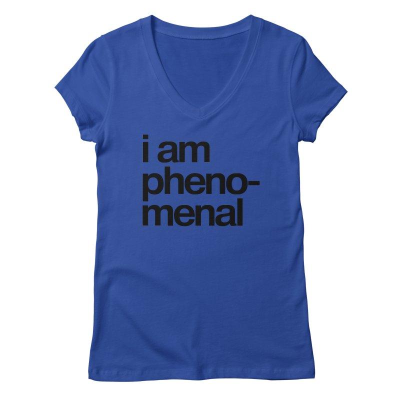 i am phenomenal Women's V-Neck by omelette
