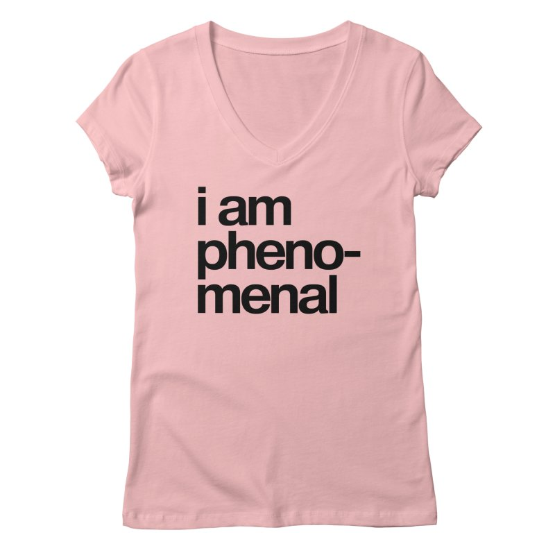 i am phenomenal Women's V-Neck by omelette