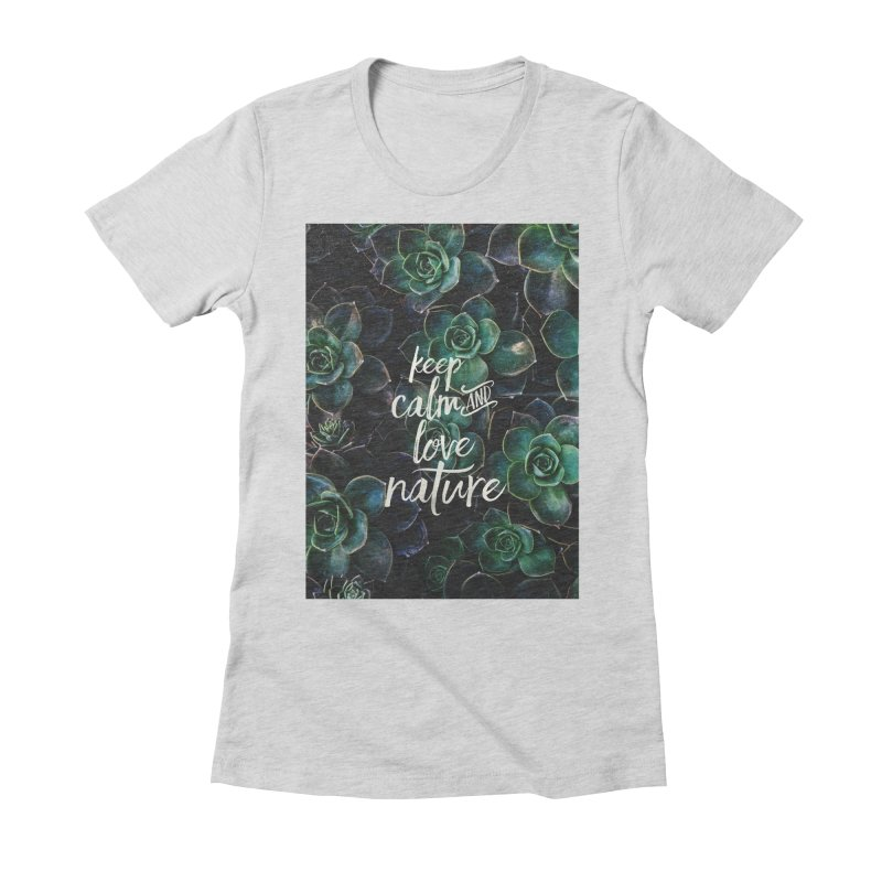 nature Women's Fitted T-Shirt by omelette