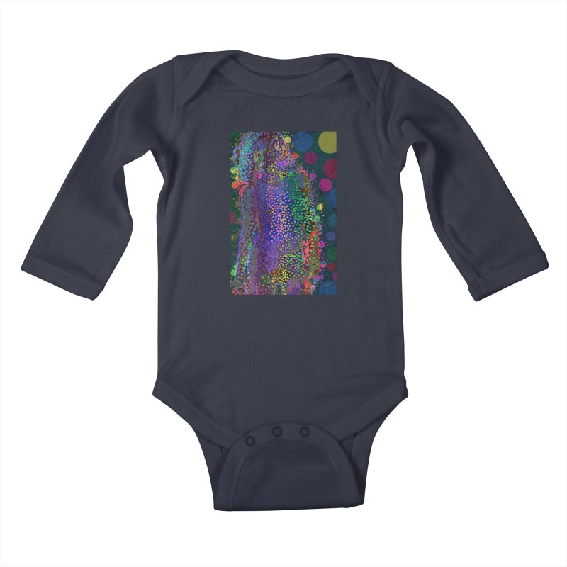 DAZZLING WOMAN Kids Baby Longsleeve Bodysuit by strawberrymonkey's Artist Shop