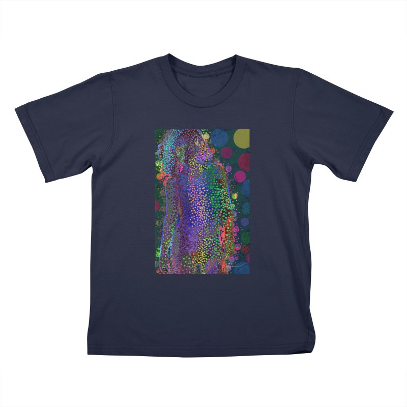 DAZZLING WOMAN Kids T-Shirt by strawberrymonkey's Artist Shop