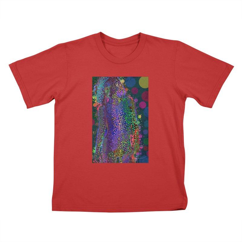 DAZZLING WOMAN Kids T-Shirt by strawberrymonkey's Artist Shop