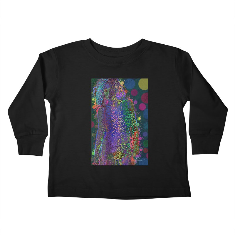 DAZZLING WOMAN Kids Toddler Longsleeve T-Shirt by strawberrymonkey's Artist Shop