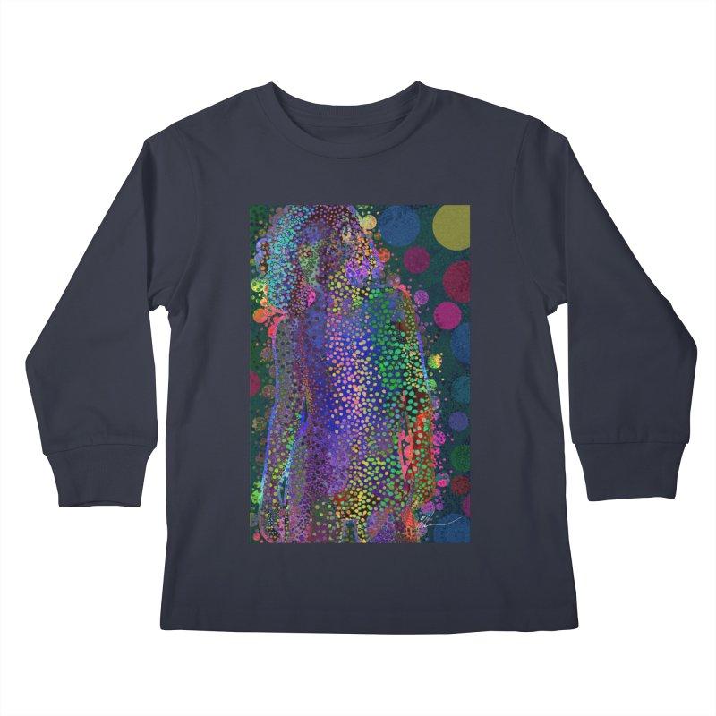 DAZZLING WOMAN Kids Longsleeve T-Shirt by strawberrymonkey's Artist Shop
