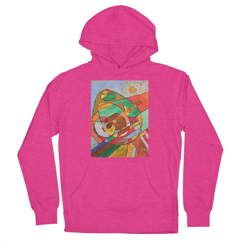 THE GUITARIST Women's Pullover Hoody by strawberrymonkey's Artist Shop