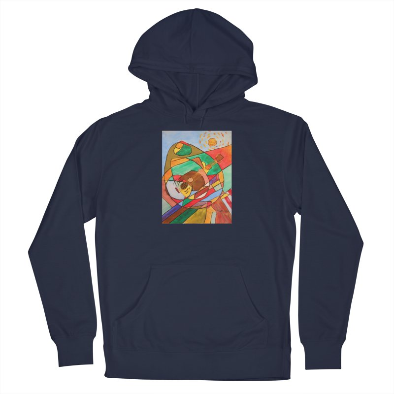 THE GUITARIST Women's Pullover Hoody by strawberrymonkey's Artist Shop
