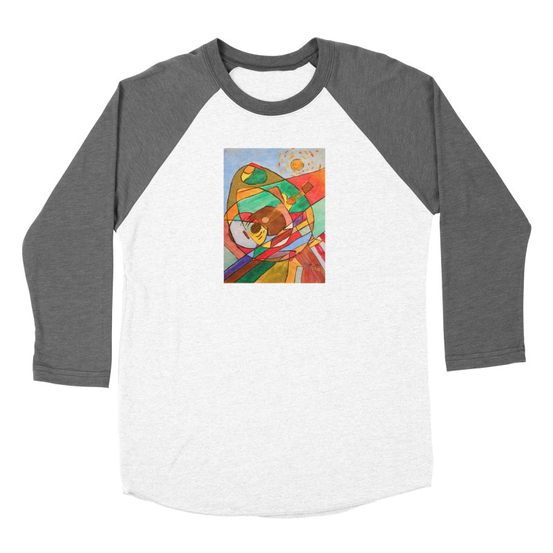 THE GUITARIST Women's Longsleeve T-Shirt by strawberrymonkey's Artist Shop