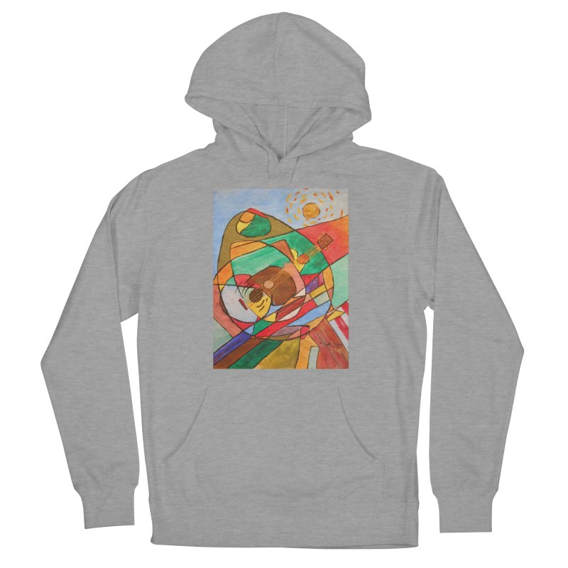 THE GUITARIST Women's French Terry Pullover Hoody by strawberrymonkey's Artist Shop