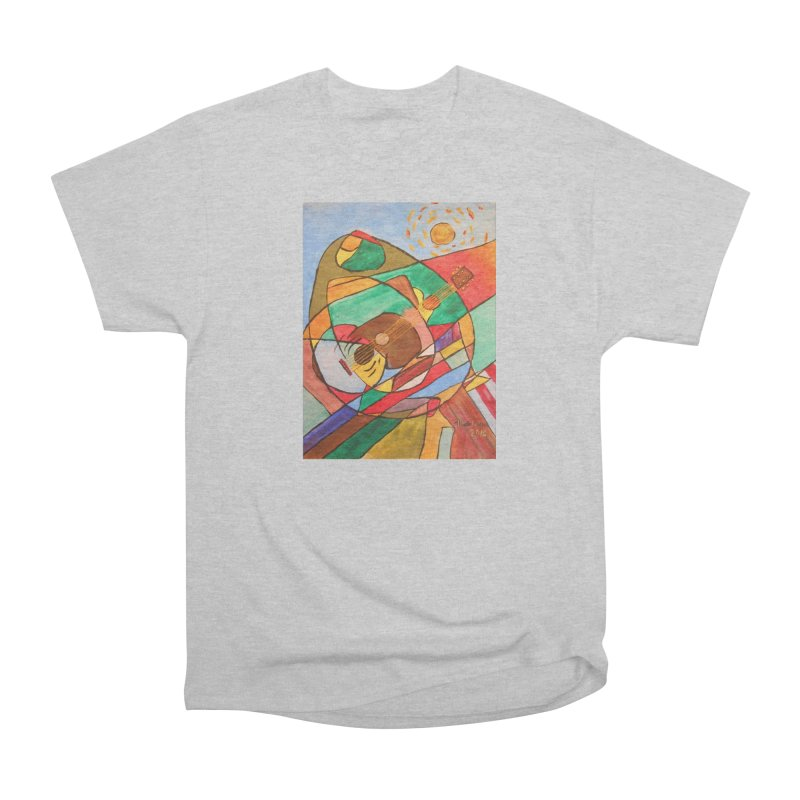 THE GUITARIST Women's Heavyweight Unisex T-Shirt by strawberrymonkey's Artist Shop