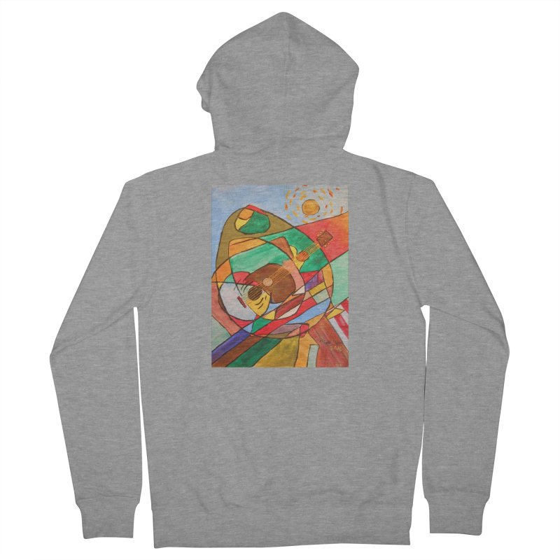 THE GUITARIST Women's French Terry Zip-Up Hoody by strawberrymonkey's Artist Shop