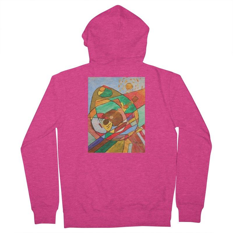 THE GUITARIST Women's Zip-Up Hoody by strawberrymonkey's Artist Shop
