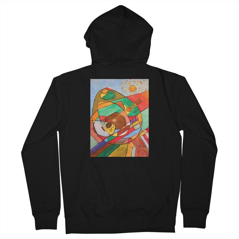 THE GUITARIST Women's Zip-Up Hoody by strawberrymonkey's Artist Shop