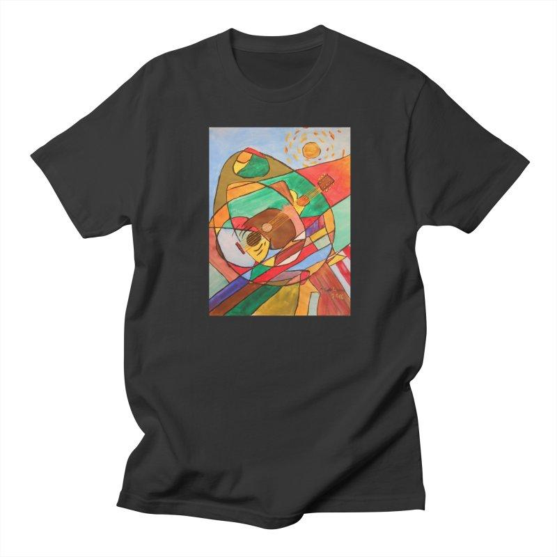 THE GUITARIST Women's Unisex T-Shirt by strawberrymonkey's Artist Shop