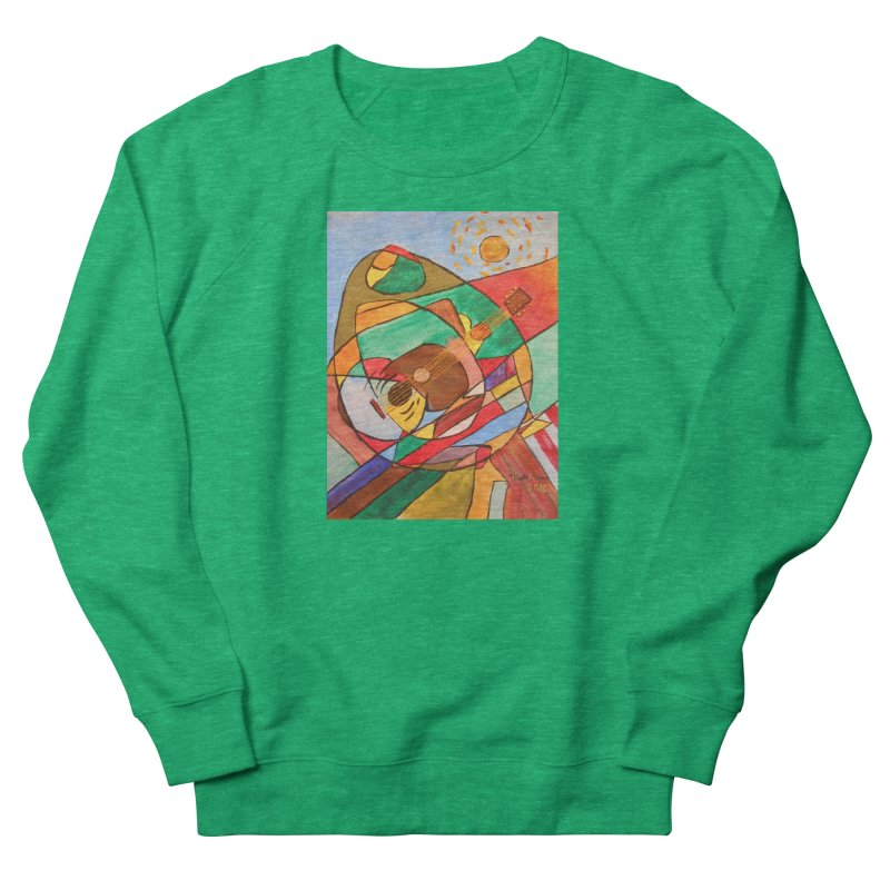 THE GUITARIST Women's Sweatshirt by strawberrymonkey's Artist Shop