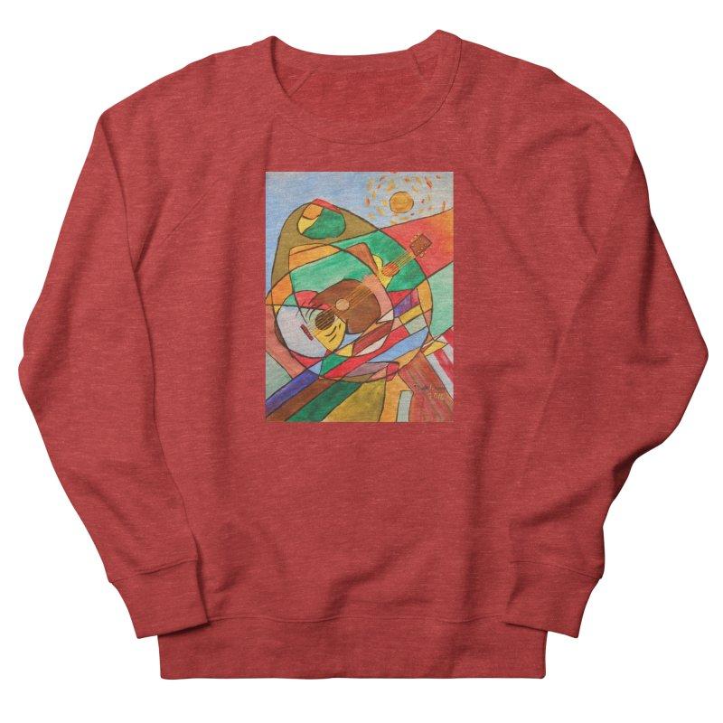 THE GUITARIST Women's Sweatshirt by strawberrymonkey's Artist Shop