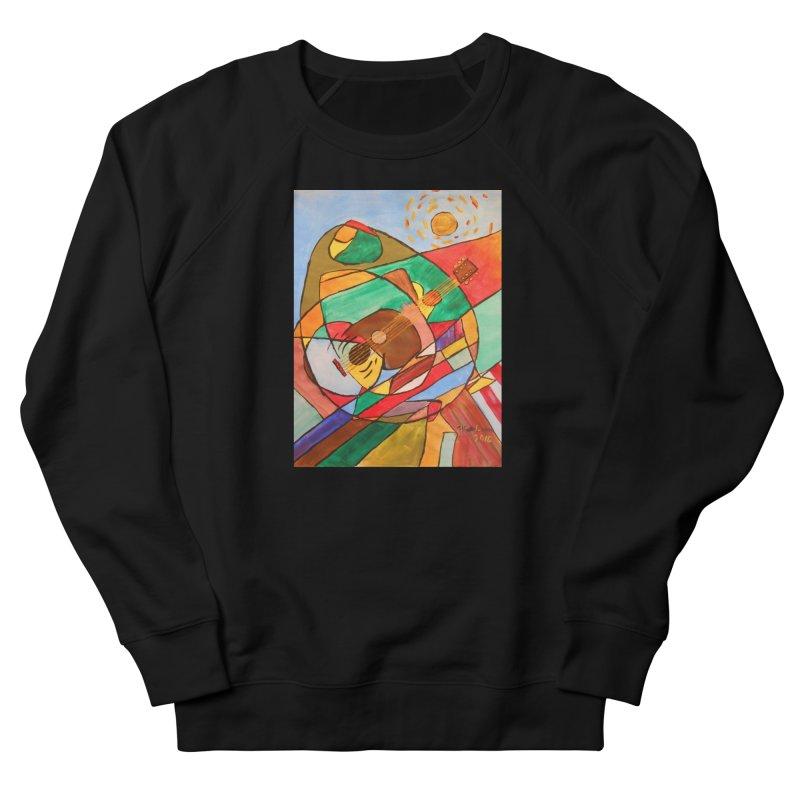 THE GUITARIST Women's French Terry Sweatshirt by strawberrymonkey's Artist Shop