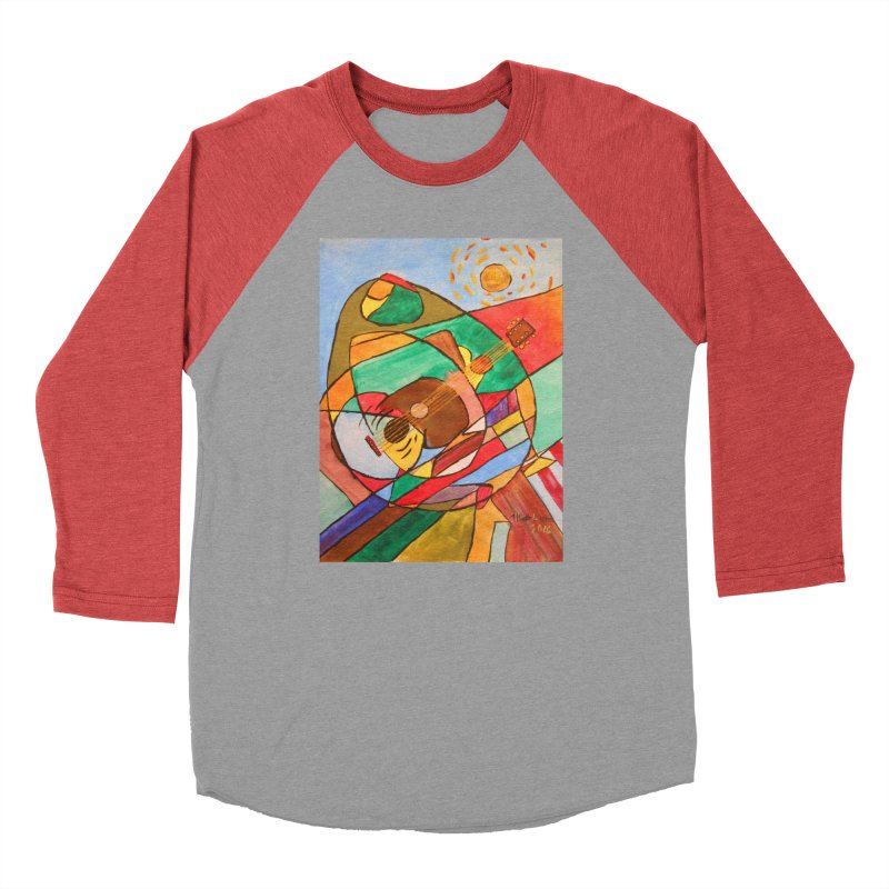 THE GUITARIST Women's Baseball Triblend Longsleeve T-Shirt by strawberrymonkey's Artist Shop