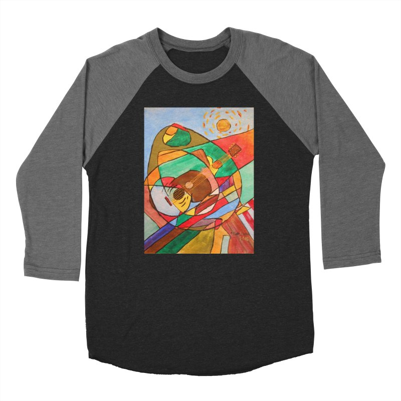 THE GUITARIST Women's Baseball Triblend T-Shirt by strawberrymonkey's Artist Shop