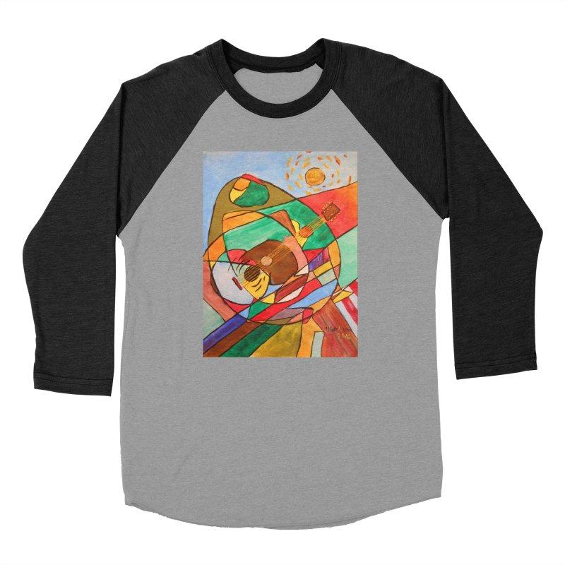 THE GUITARIST Women's Baseball Triblend Longsleeve T-Shirt by strawberrymonkey's Artist Shop