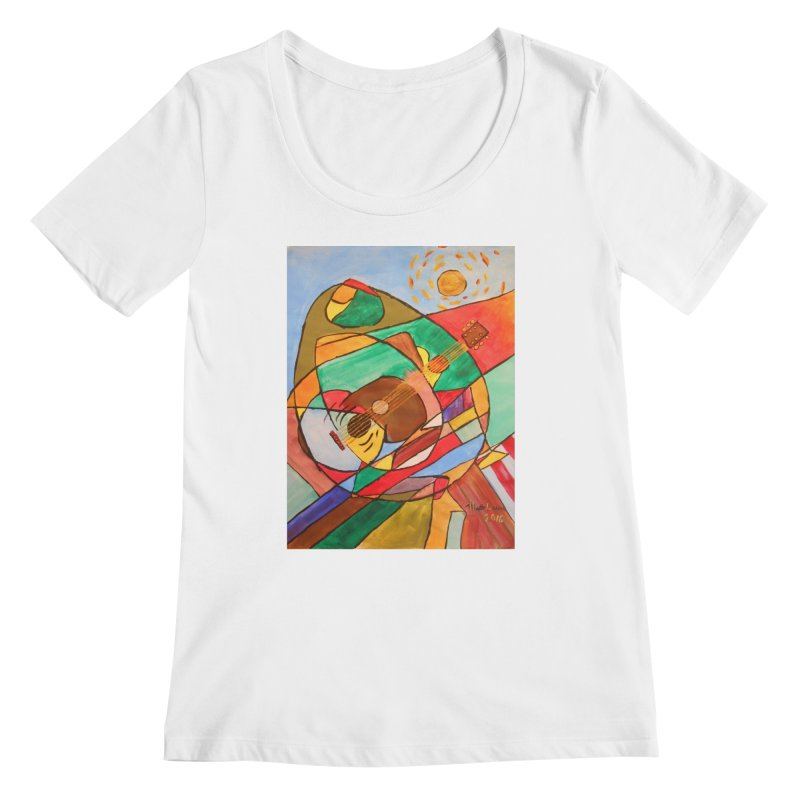 THE GUITARIST Women's Scoopneck by strawberrymonkey's Artist Shop