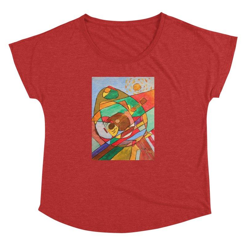 THE GUITARIST Women's Dolman Scoop Neck by strawberrymonkey's Artist Shop