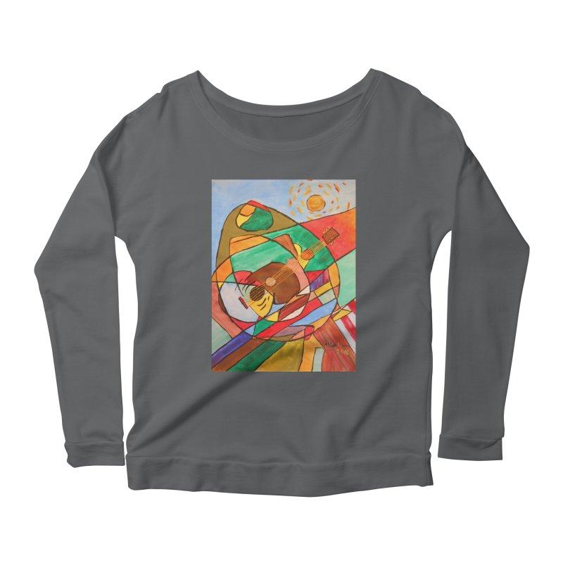 THE GUITARIST Women's Longsleeve T-Shirt by strawberrymonkey's Artist Shop