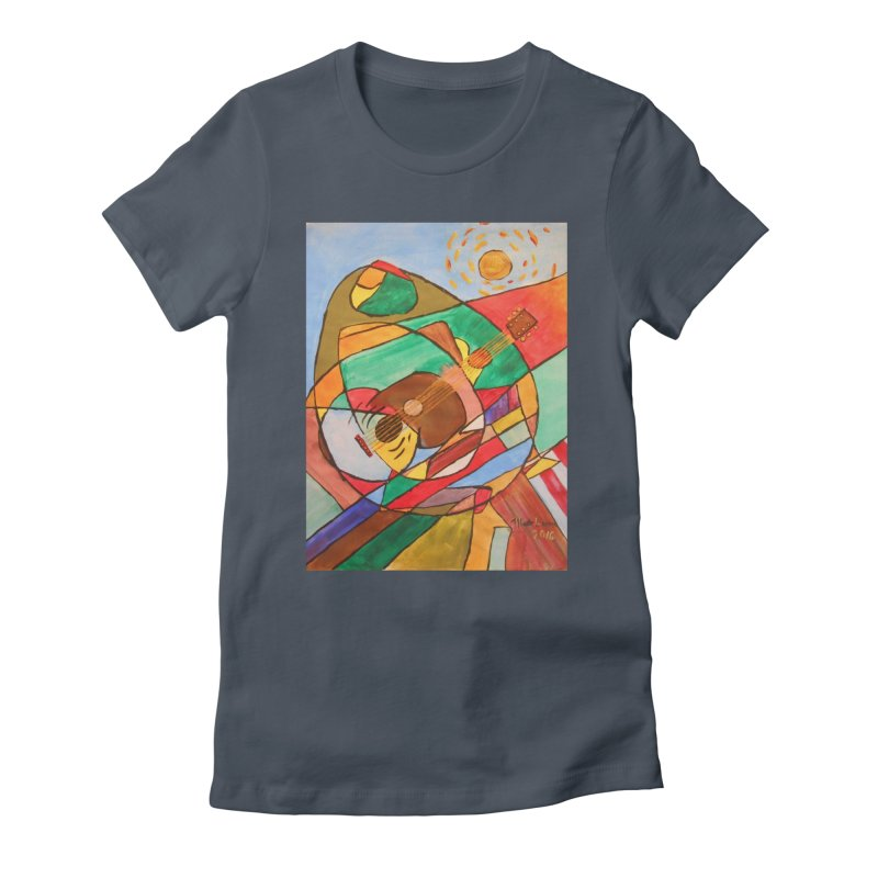 THE GUITARIST Women's T-Shirt by strawberrymonkey's Artist Shop