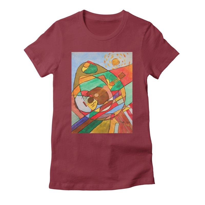THE GUITARIST Women's T-Shirt by strawberrymonkey's Artist Shop