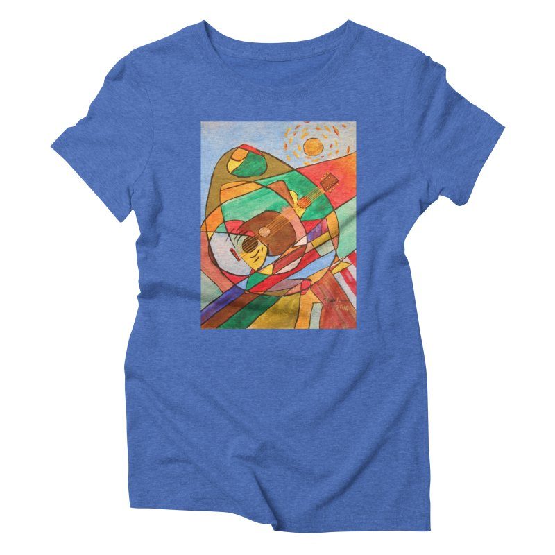 THE GUITARIST Women's Triblend T-Shirt by strawberrymonkey's Artist Shop