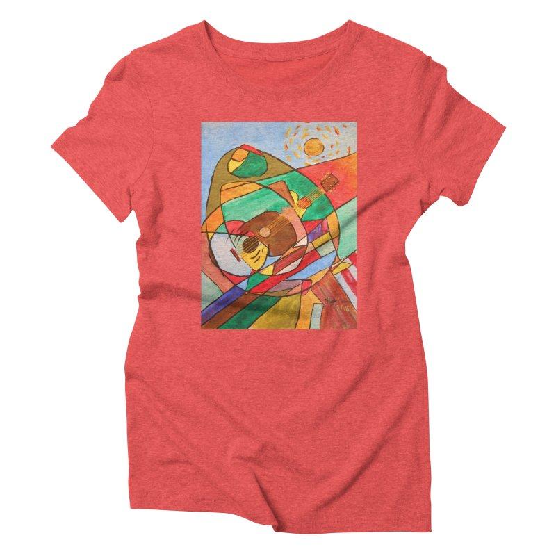 THE GUITARIST Women's Triblend T-Shirt by strawberrymonkey's Artist Shop