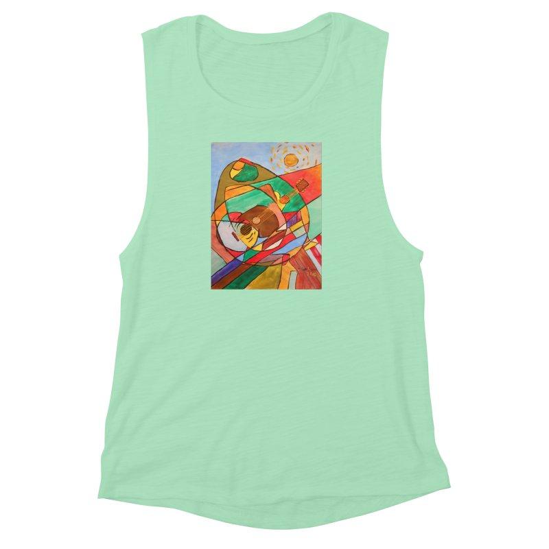 THE GUITARIST Women's Muscle Tank by strawberrymonkey's Artist Shop