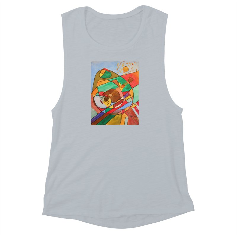 THE GUITARIST Women's Muscle Tank by strawberrymonkey's Artist Shop