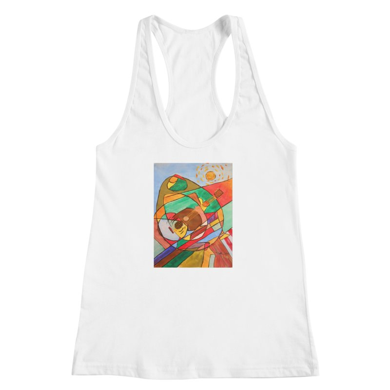 THE GUITARIST Women's Racerback Tank by strawberrymonkey's Artist Shop