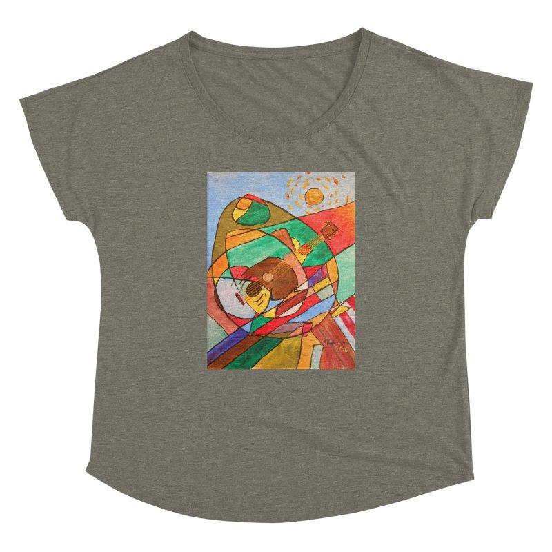 THE GUITARIST Women's Scoop Neck by strawberrymonkey's Artist Shop