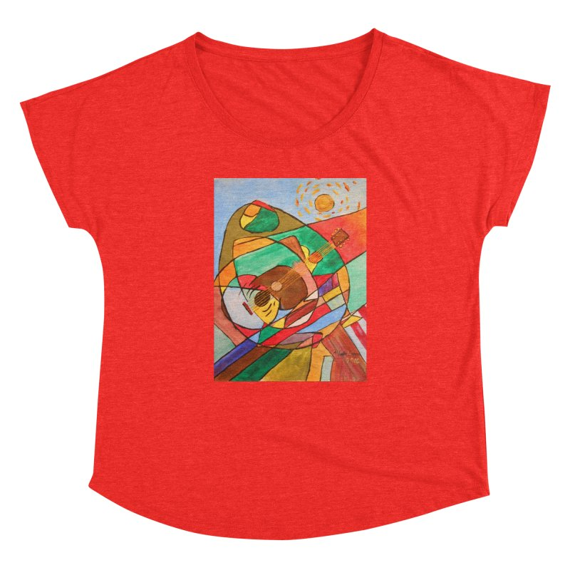 THE GUITARIST Women's Scoop Neck by strawberrymonkey's Artist Shop