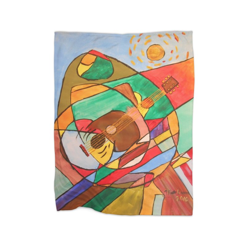 THE GUITARIST Home Blanket by strawberrymonkey's Artist Shop