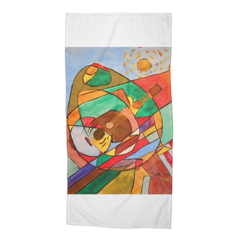 THE GUITARIST Accessories Beach Towel by strawberrymonkey's Artist Shop