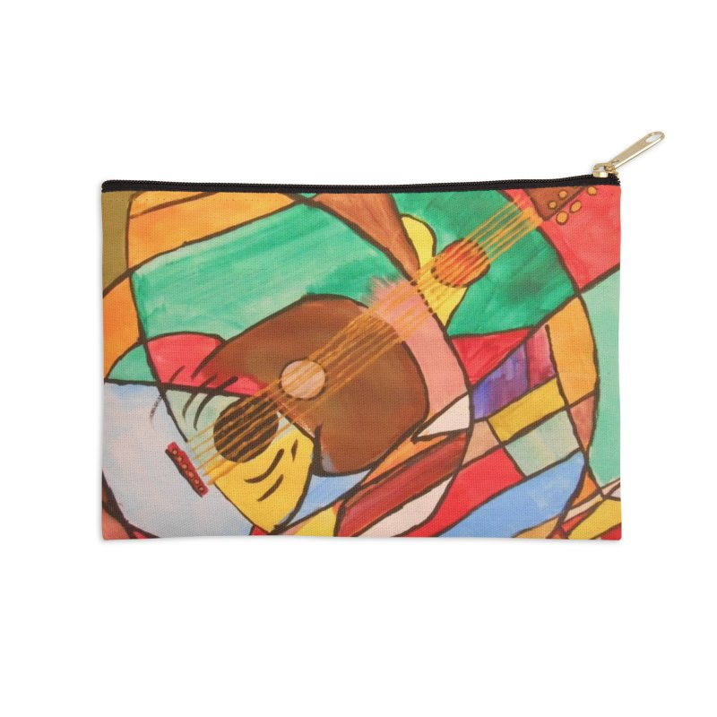 THE GUITARIST Accessories Zip Pouch by strawberrymonkey's Artist Shop