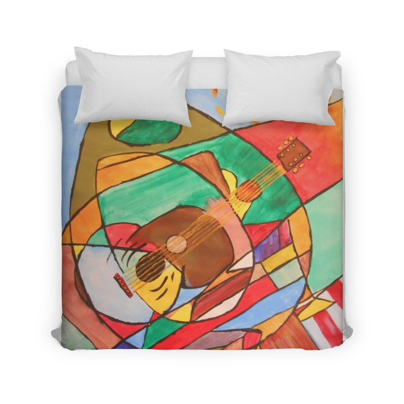 THE GUITARIST Home Duvet by strawberrymonkey's Artist Shop