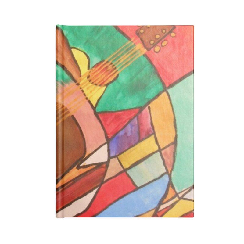 THE GUITARIST Accessories Notebook by strawberrymonkey's Artist Shop