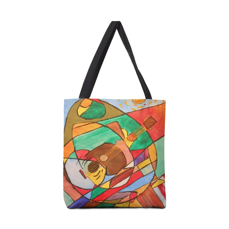 THE GUITARIST Accessories Tote Bag Bag by strawberrymonkey's Artist Shop