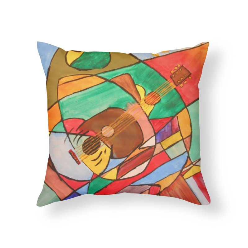 THE GUITARIST Home Throw Pillow by strawberrymonkey's Artist Shop