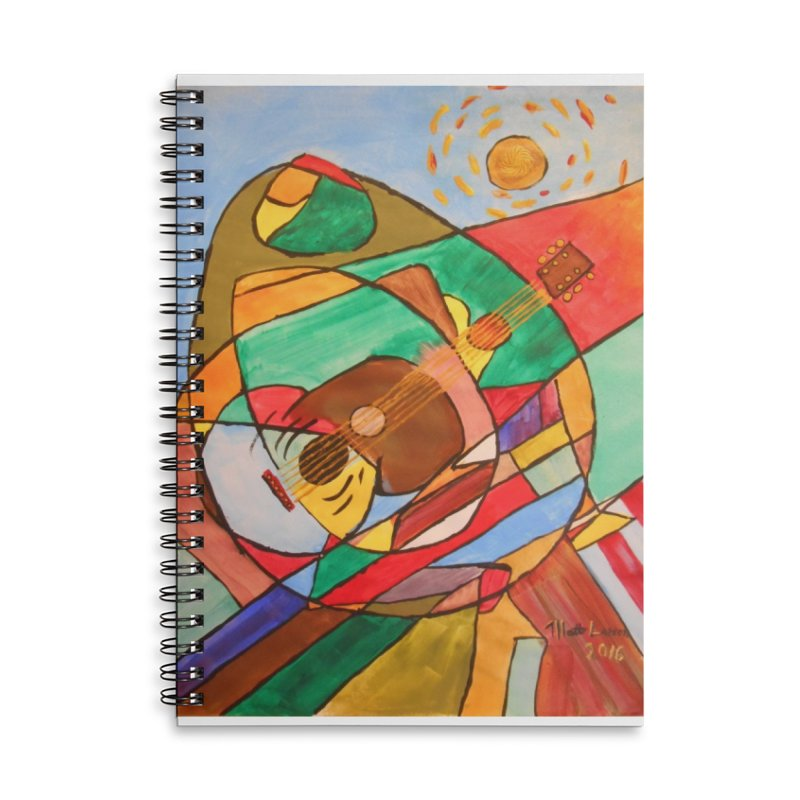 THE GUITARIST Accessories Lined Spiral Notebook by strawberrymonkey's Artist Shop
