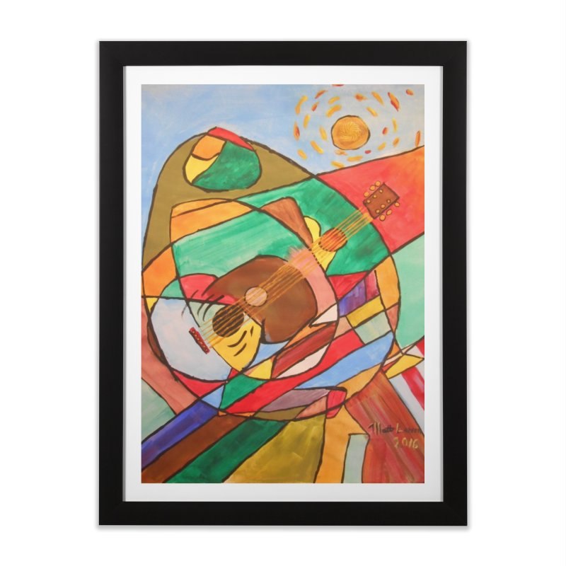 THE GUITARIST Home Framed Fine Art Print by strawberrymonkey's Artist Shop