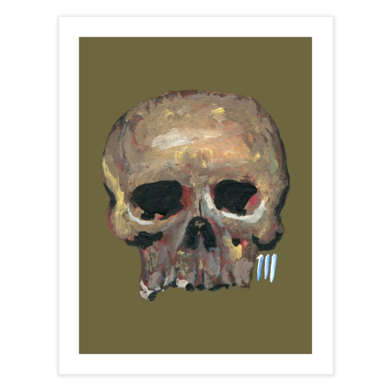 SKULL091815 Home Fine Art Print by strawberrymonkey's Artist Shop