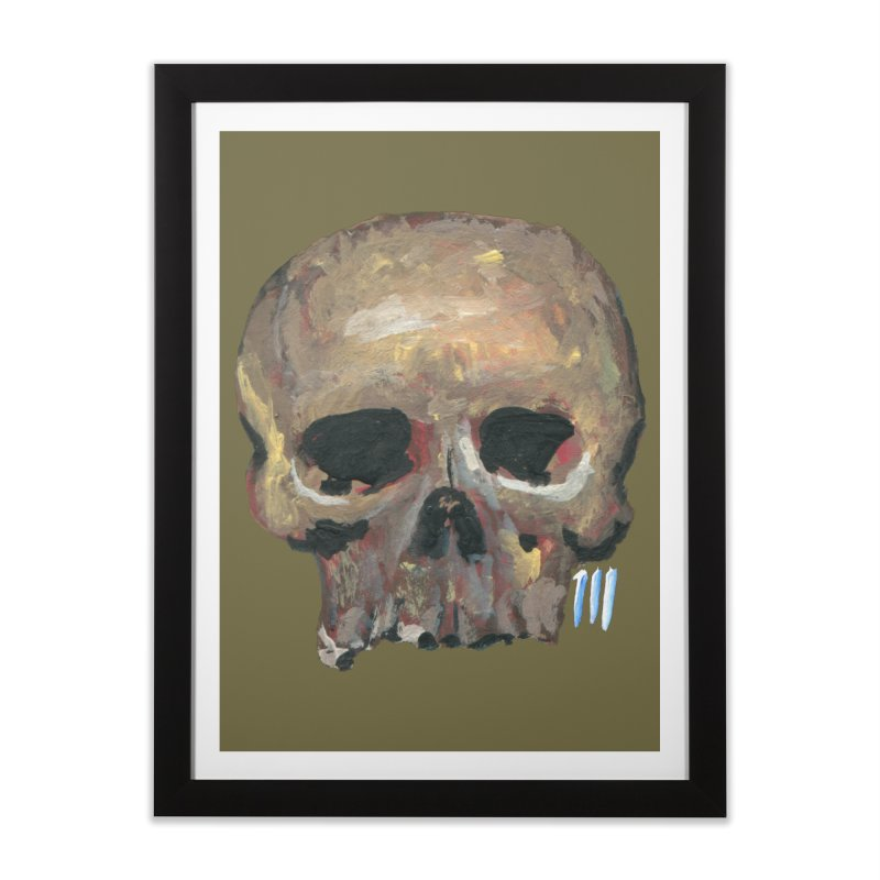 SKULL091815 Home Framed Fine Art Print by strawberrymonkey's Artist Shop