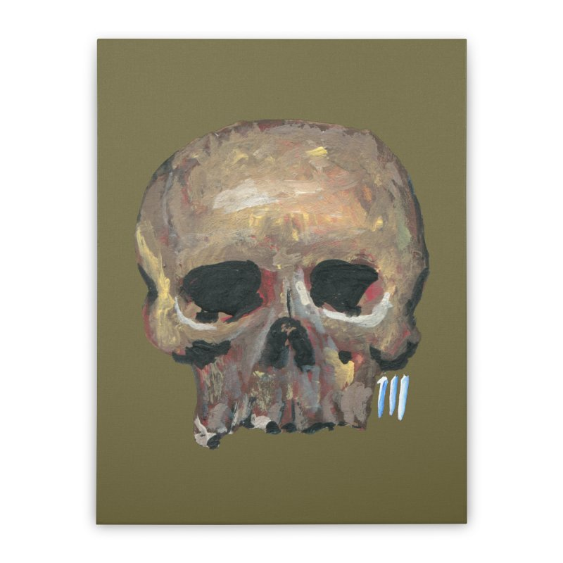SKULL091815 Home Stretched Canvas by strawberrymonkey's Artist Shop