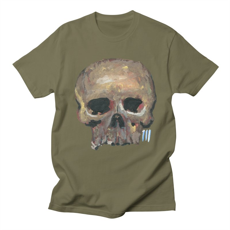 SKULL091815 in Men's T-shirt Olive by strawberrymonkey's Artist Shop