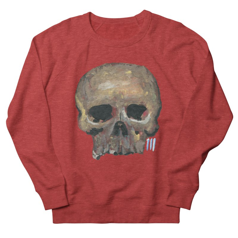 SKULL091815 Men's French Terry Sweatshirt by strawberrymonkey's Artist Shop