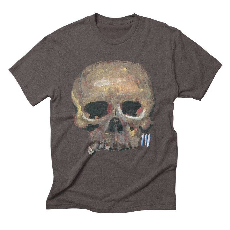 SKULL091815 Men's Triblend T-Shirt by strawberrymonkey's Artist Shop
